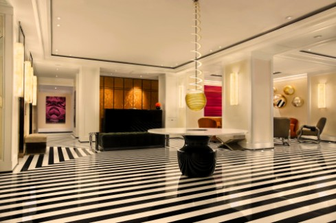 The lobby of The Mark Hotel, NYC